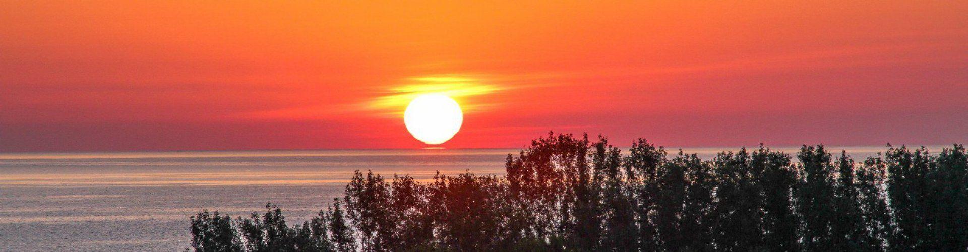 Sun rising seen from the tterrace