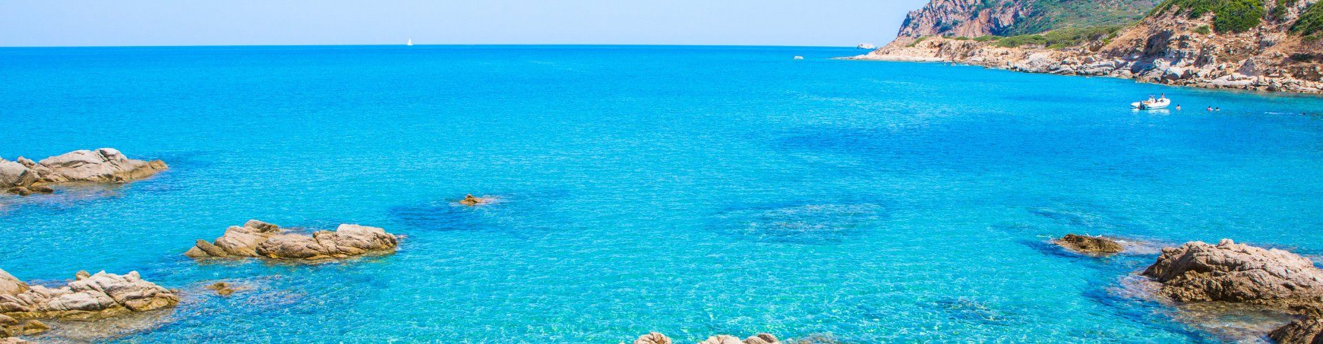 Crystal clear water at Capo Ferrato lets you see to the bottom of the sea