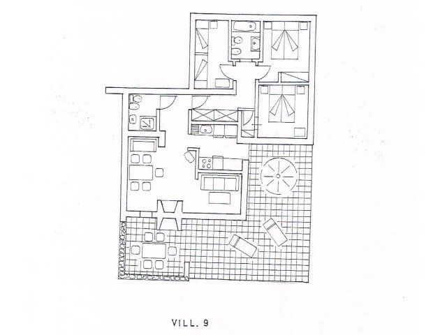 Floor plan Villetta 9