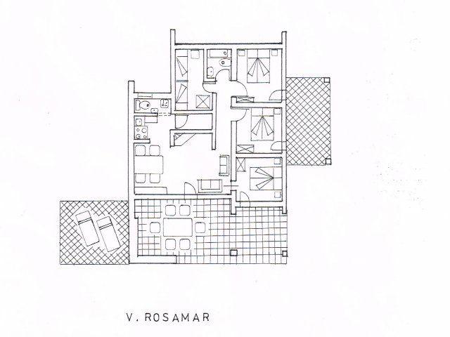 Ground plan of Villa Rosamar
