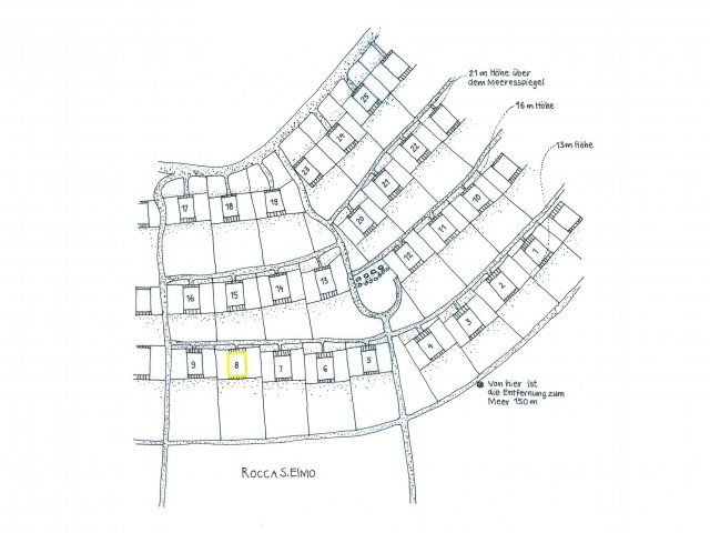 Holiday house location plan in the condominium Sant'Elmo