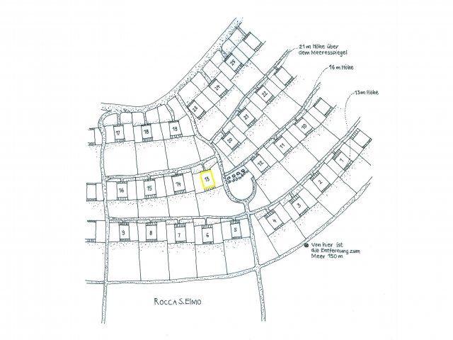 Holiday house location plan in the condominium Sant'Elmo