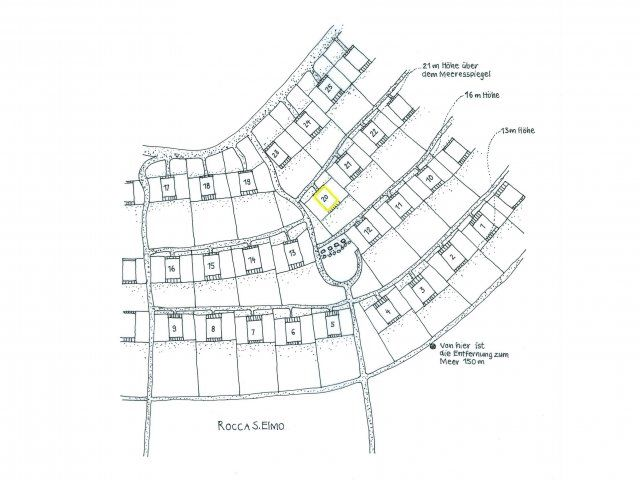 Location map of the holiday houses in the condominium Sant Elmo