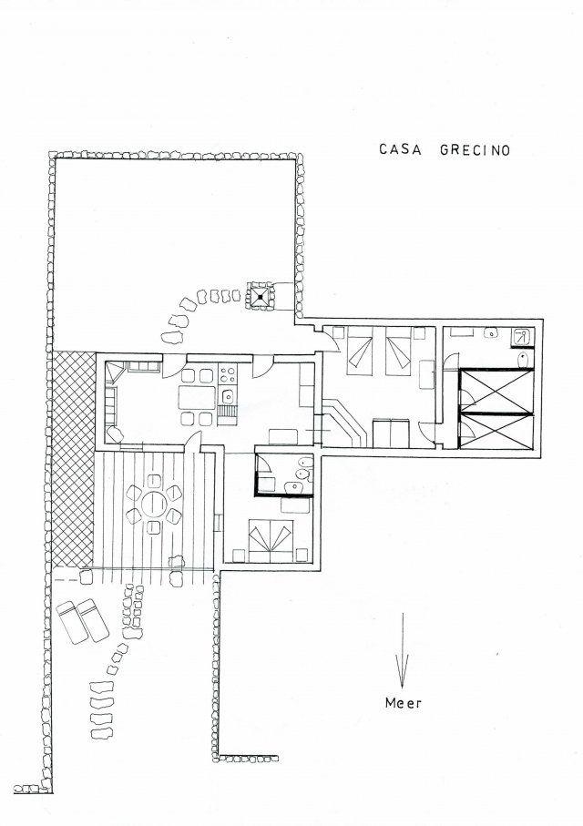 Floor plan Casa Grecino
