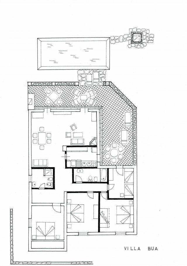 Floor plan Villa Bua