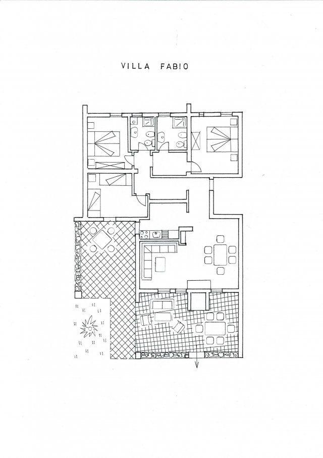 Floor plan Villetta Fabio