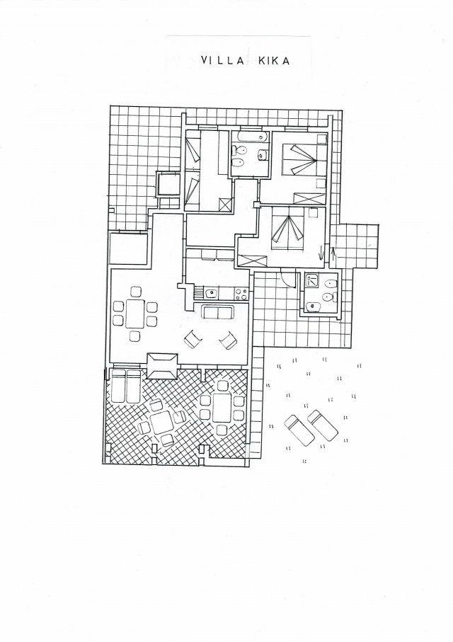Floor plan Villa Kika