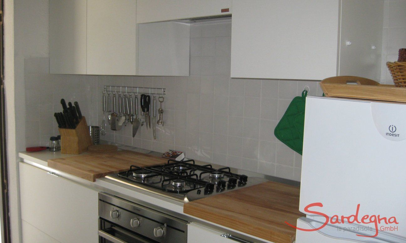 Modern kitchen with all essential devices