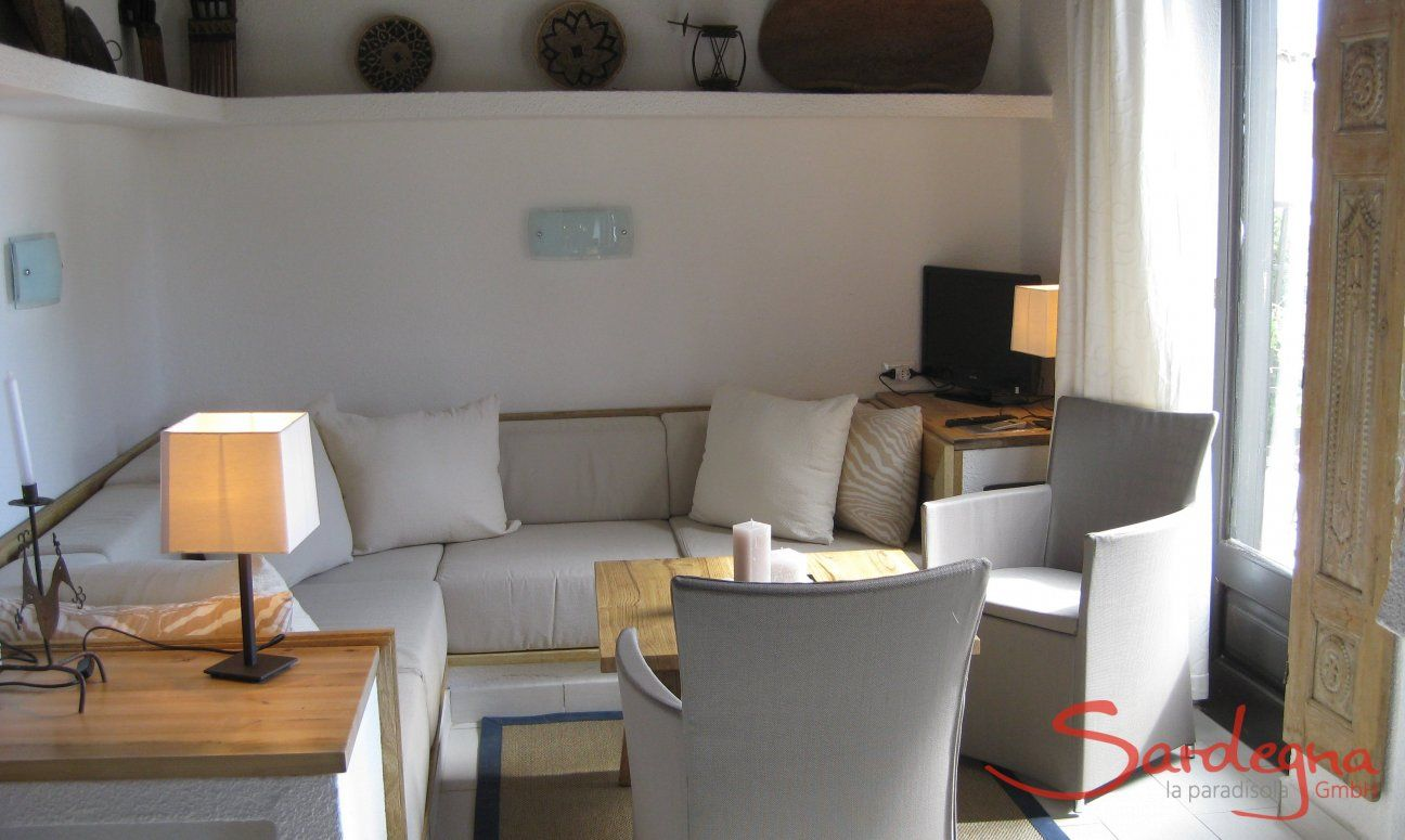 Living room with a beautiful sofa corner