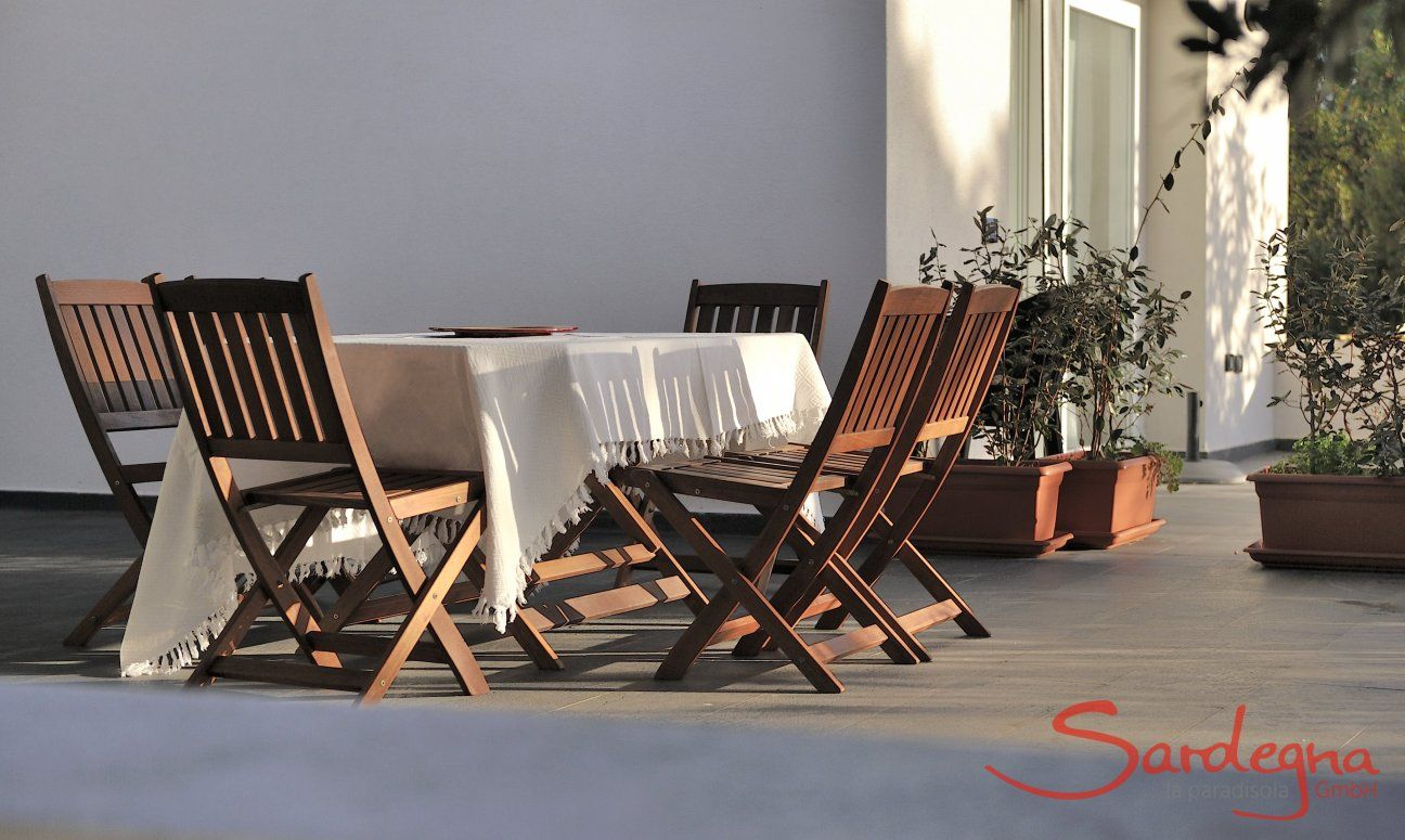 Terrace dining furniture