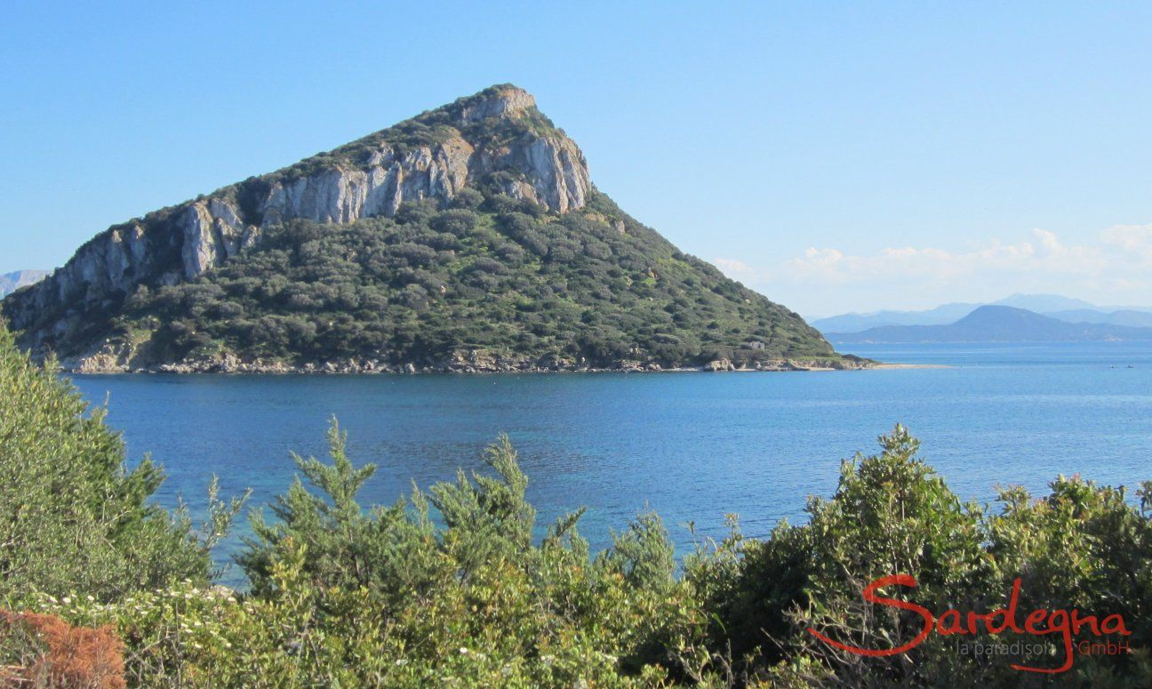View from Golfo Aranci towards the isle of Figarolo, 20 miles from Olbia