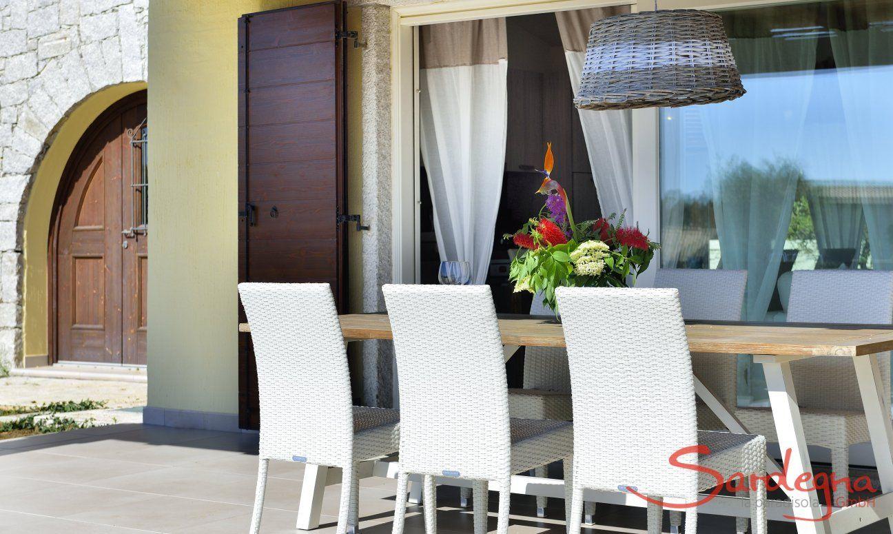 Outside dining in  Villa Campidano 21