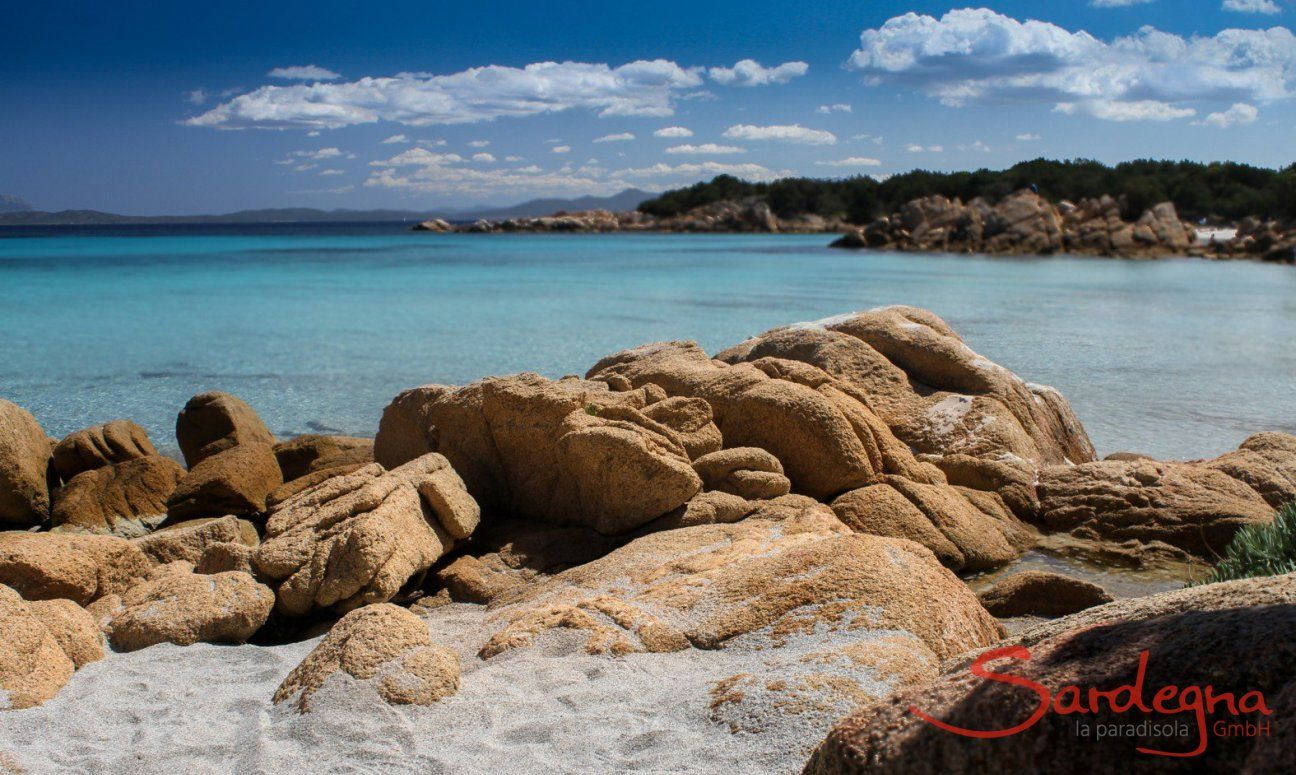 Cala Caprioccioli with rocks in crazy shapes and crystal clear water