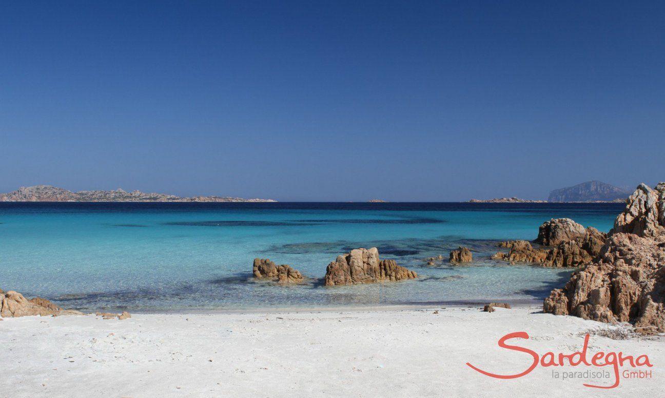 Spiaggia del Principe, Romazzino, 24 km. far away