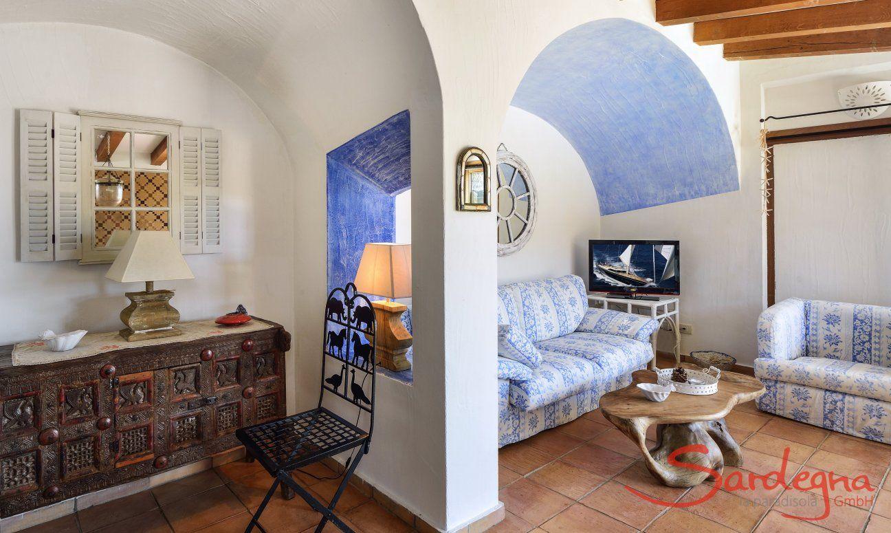 Living area with a nice sofa corner