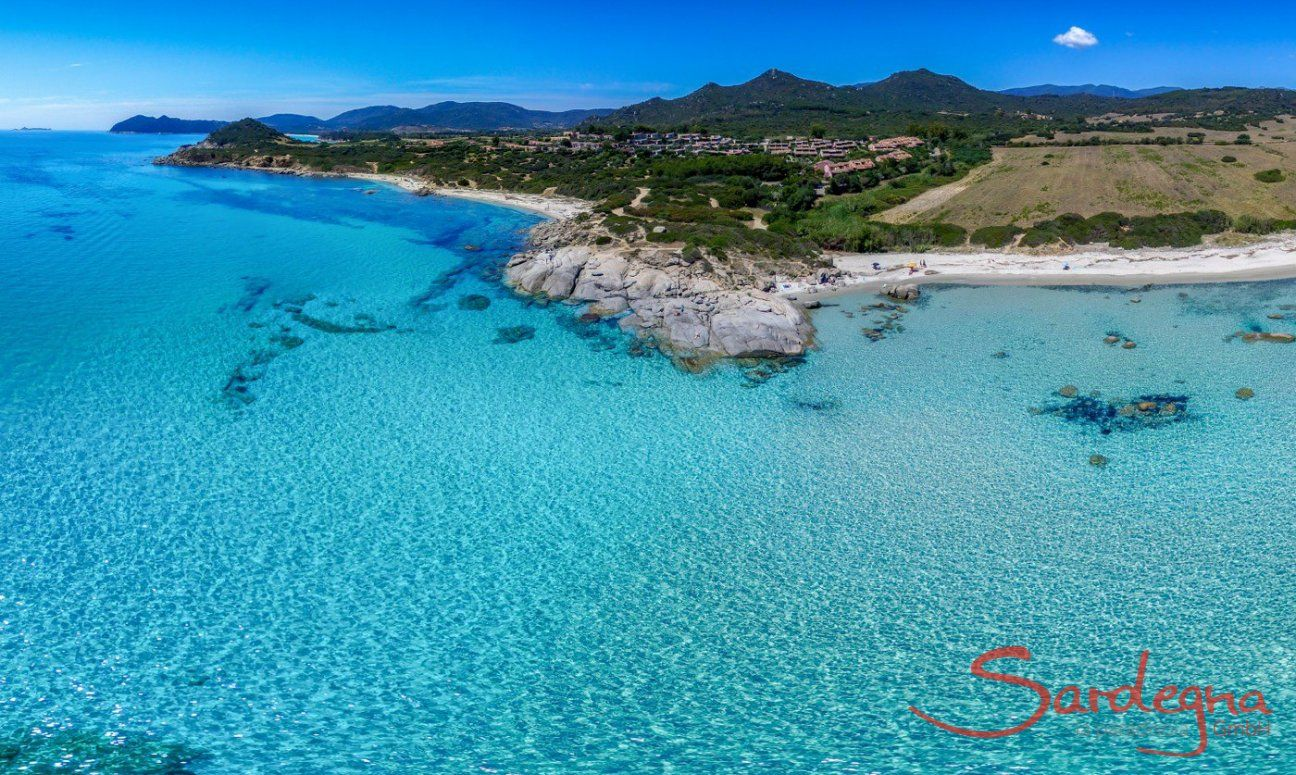 Crystal clear sea of Sant Elmo, Southsardinia