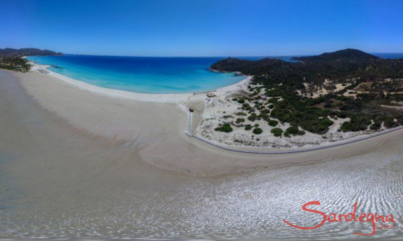 Panorama 360° Cala Giunco mit Salzsee