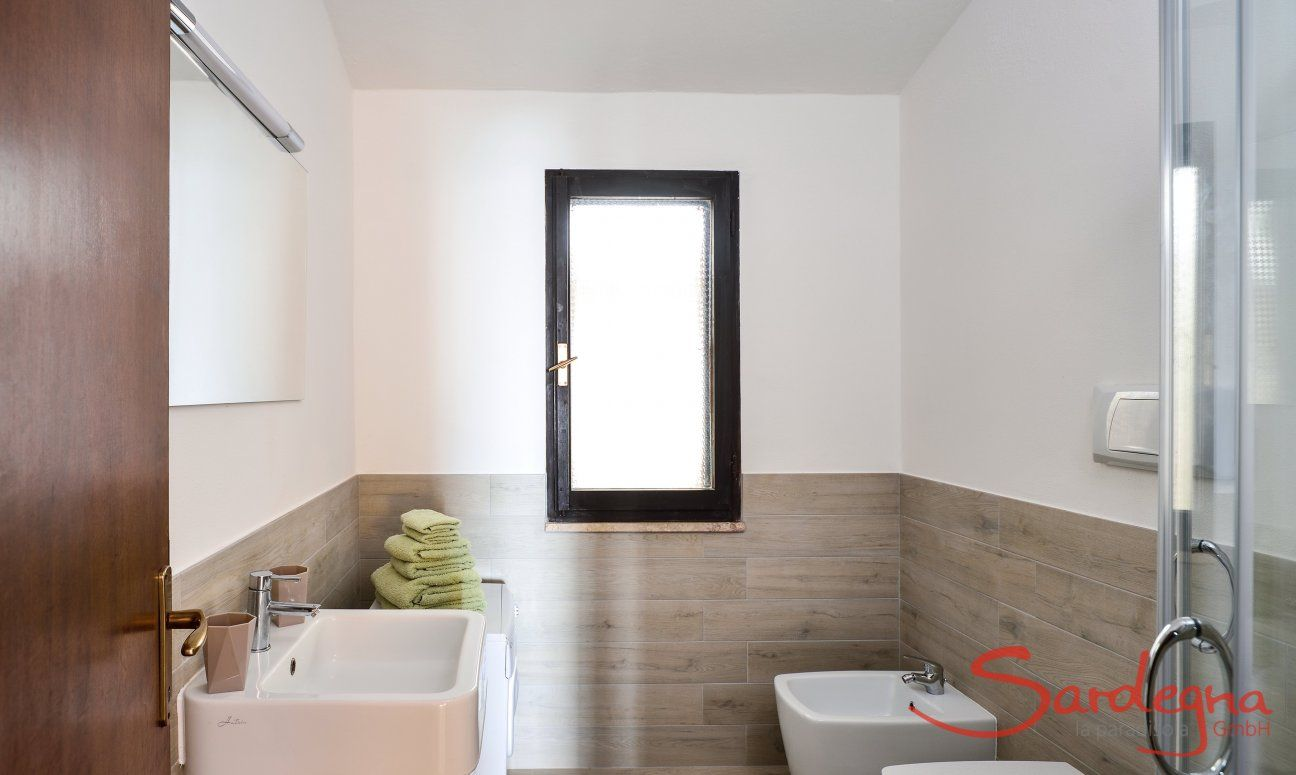 Modern and renovated bathroom with shower