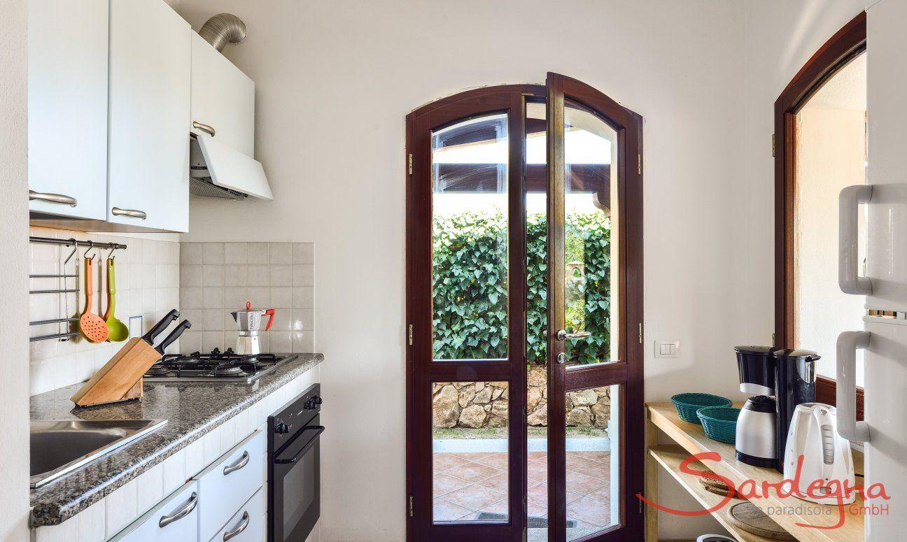 Kitchen upstairs with garden access