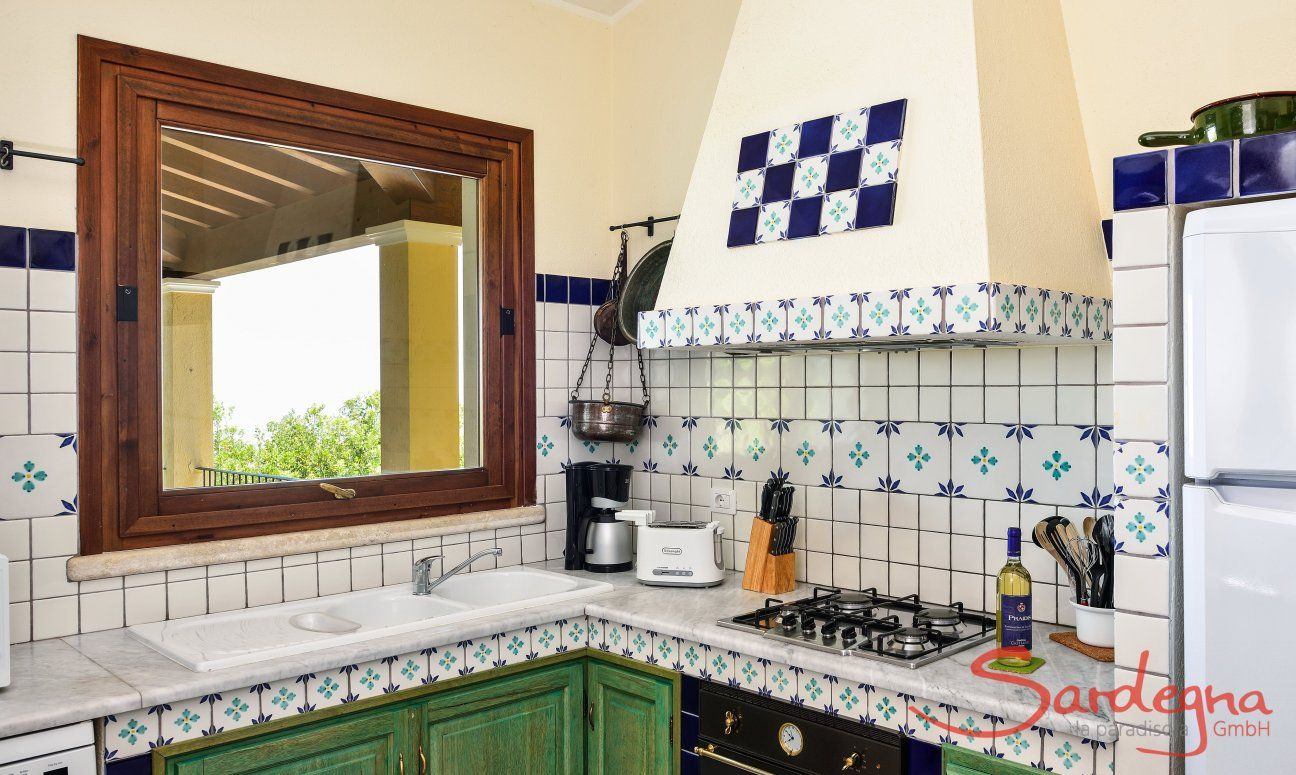 Typical sardinian kitchen with all essential devices