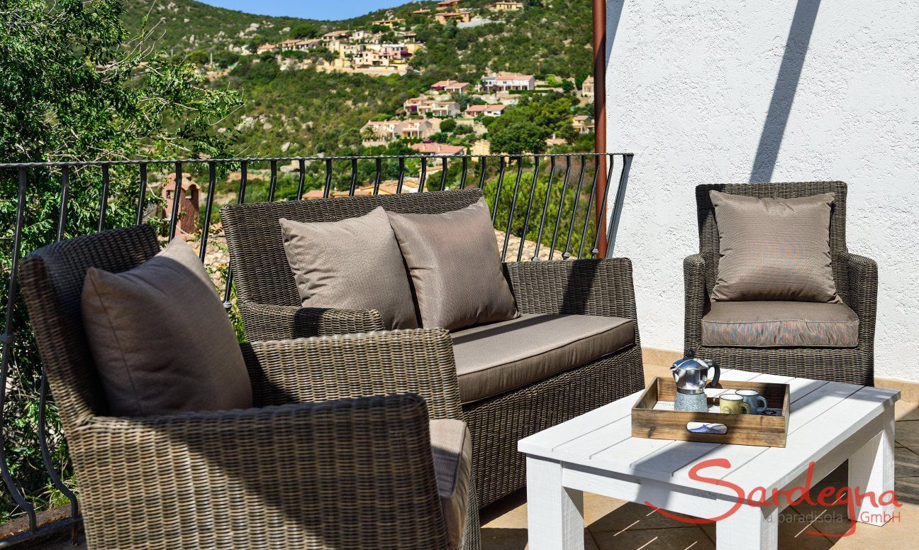 Lounge furniture on the terrace