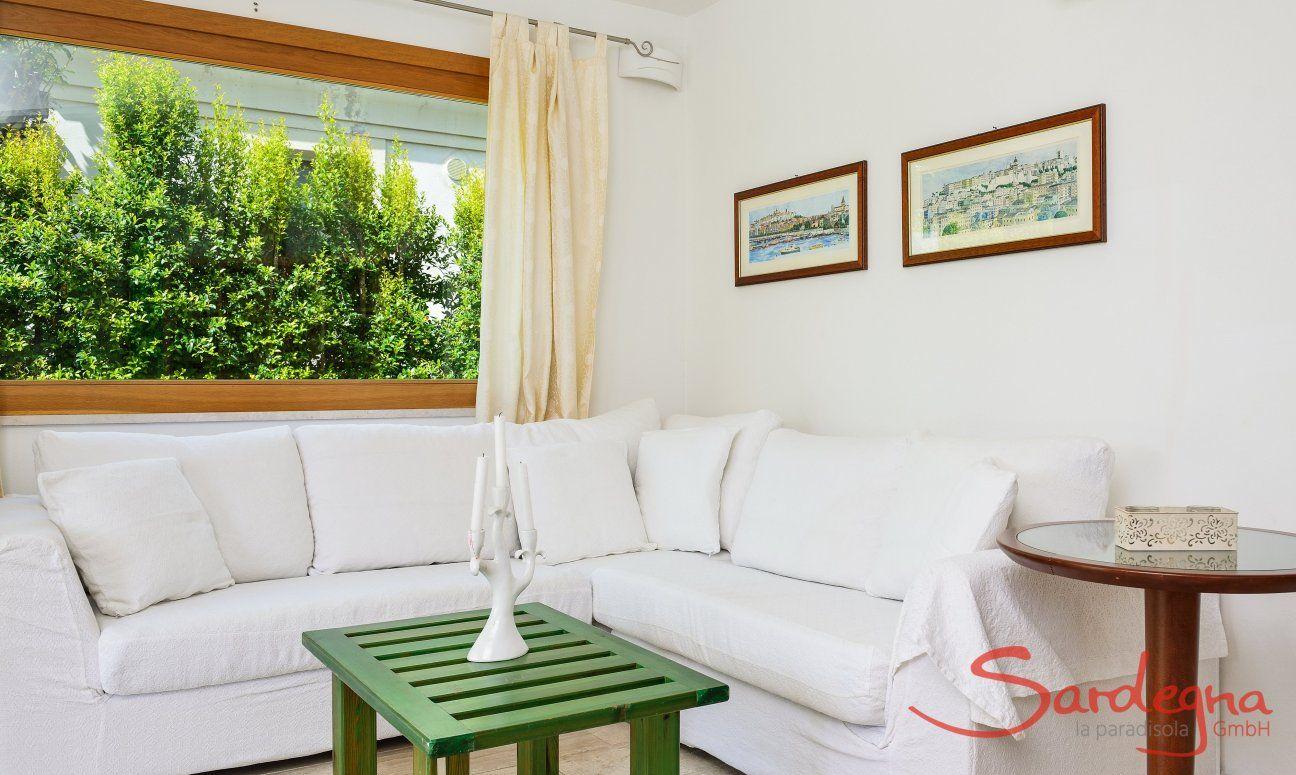 Sofa corner with bright day light
