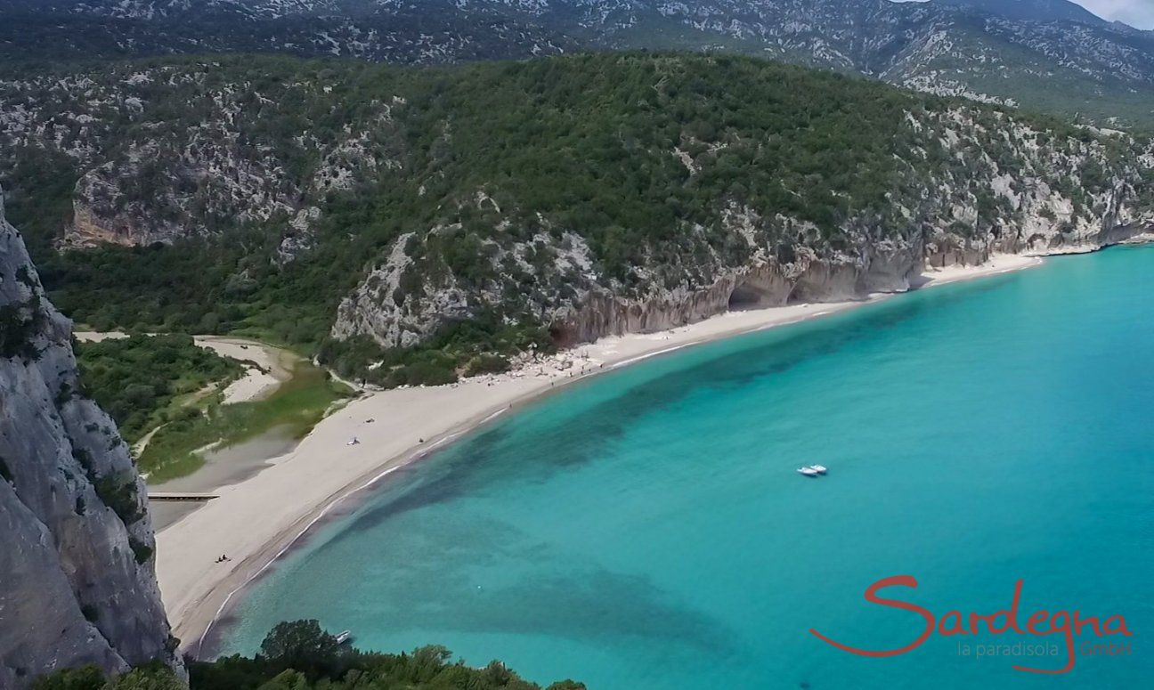 Airview of the beach Cala Luna