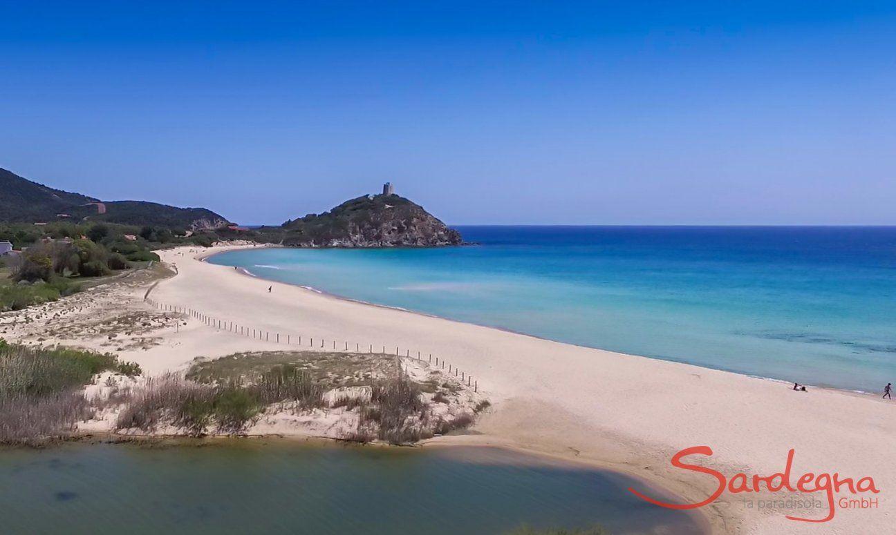 Beach Chia and Isle Su Giudeu