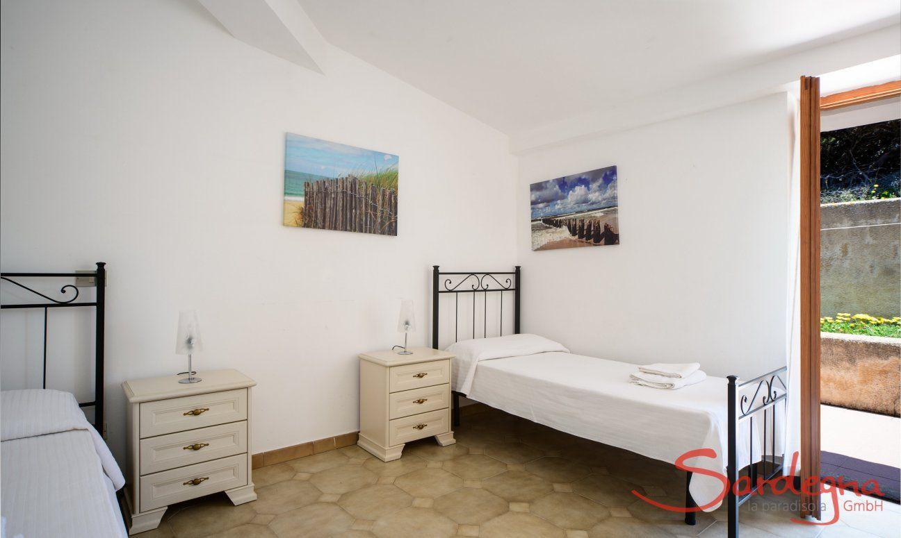 Bedroom 2 with garden access