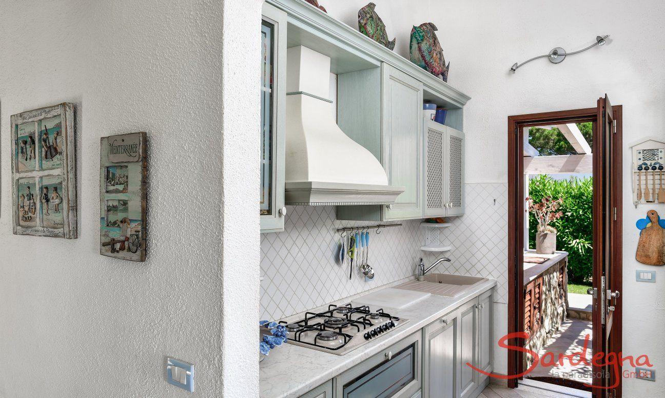 Kitchen and terrace door