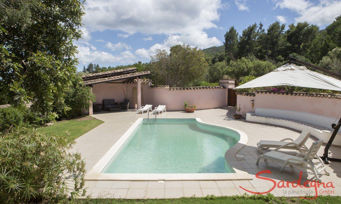 Private pool of the villa