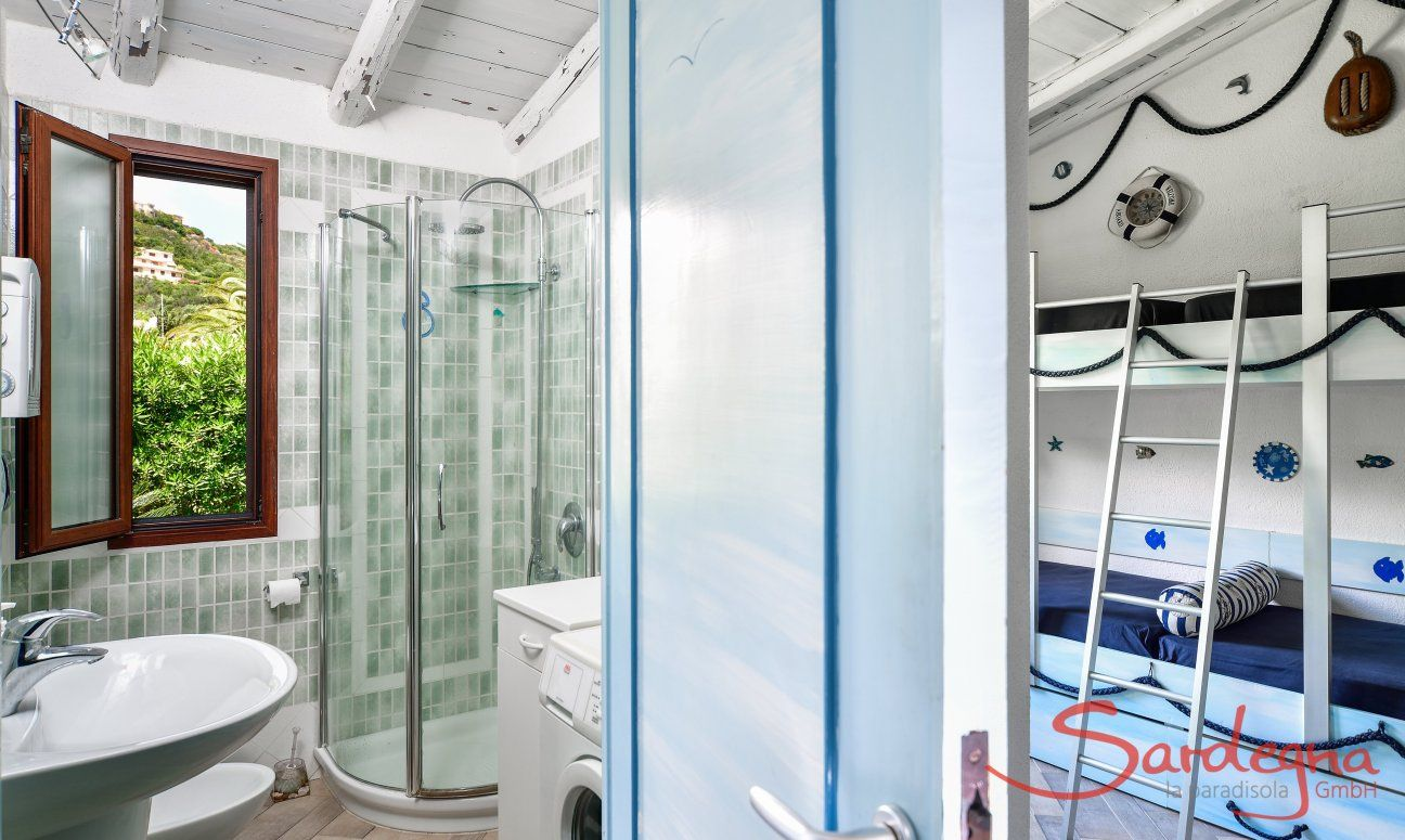 Bath with shower and kids' bedroom