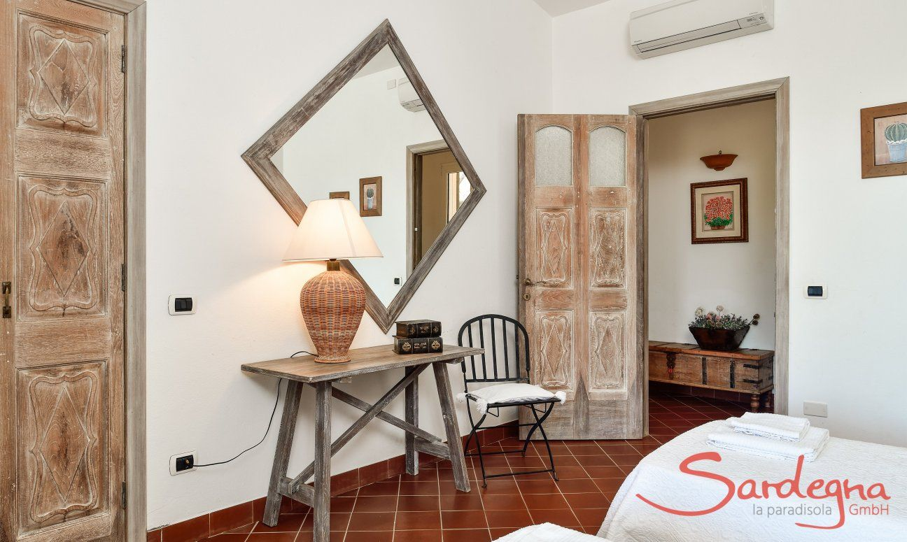 Bedroom 1 east wing with sardinian furniture