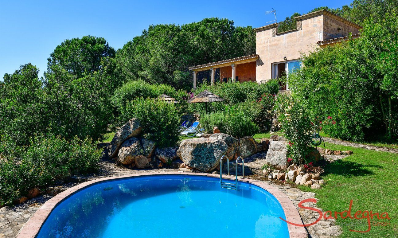 Private pool, perfeclty settled into the beautiful garden