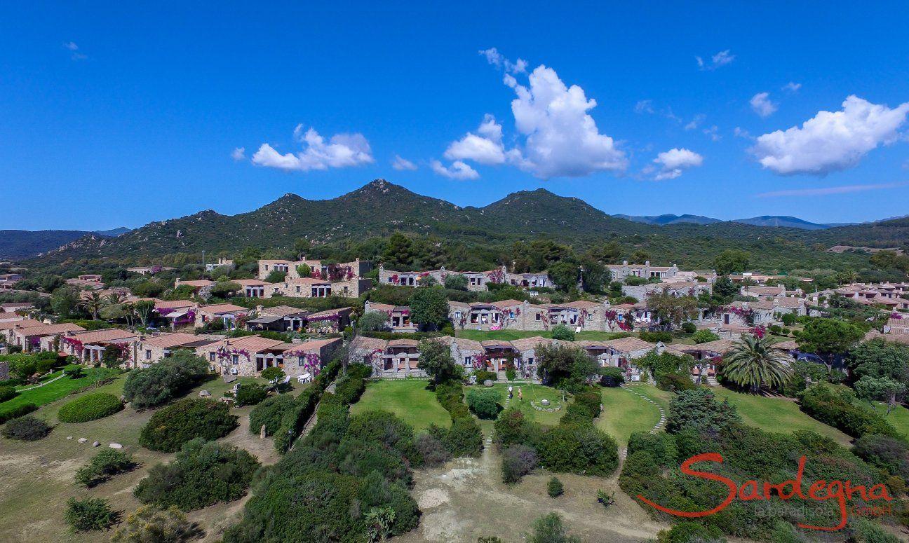 Aerial view of Sant Elmo in Sardinia