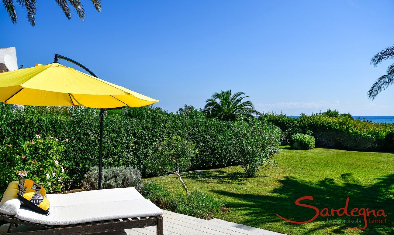 Groomed and big garden of the villa