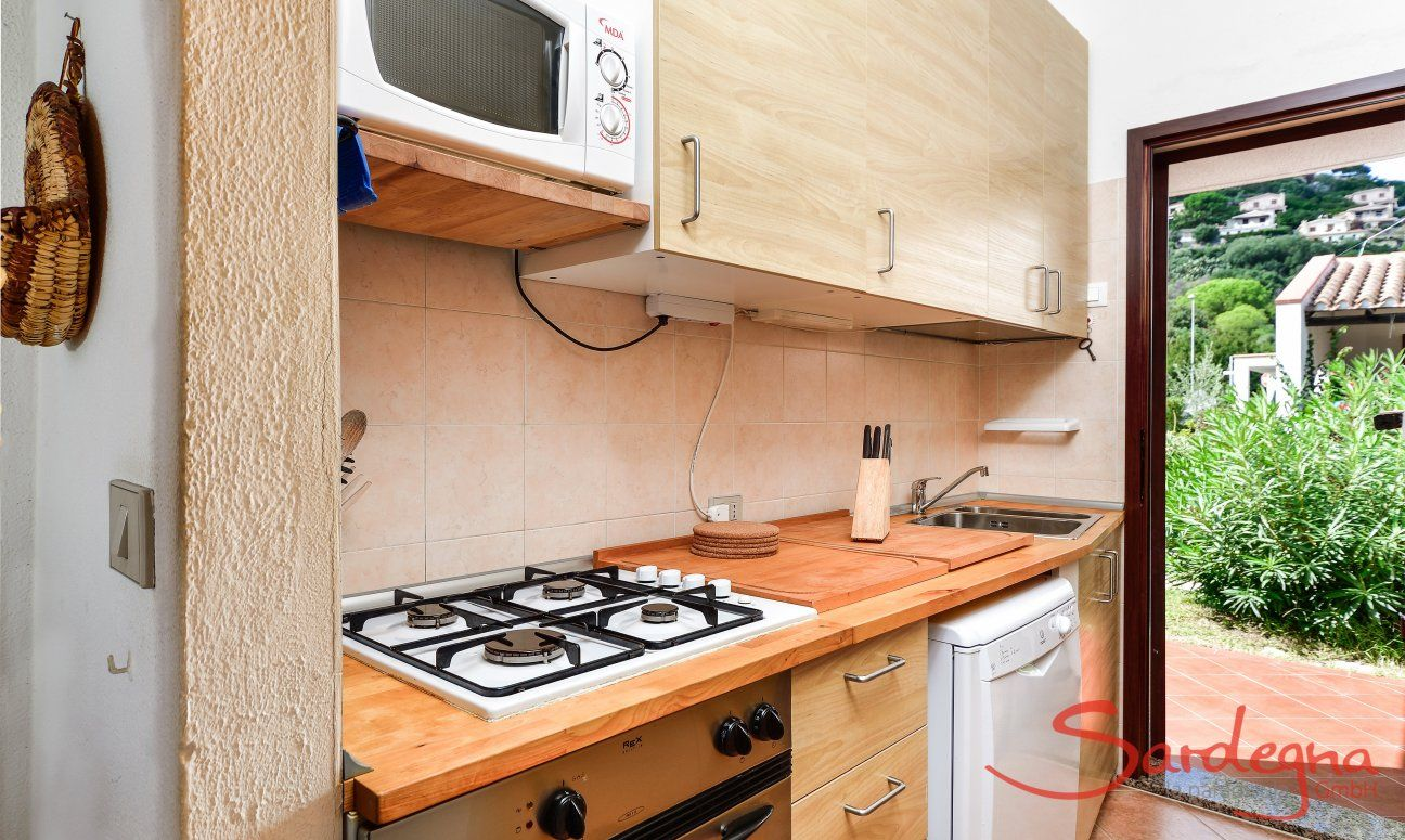 Kitchen with garden access
