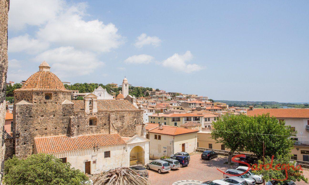 Sardinian village Orosei, ca. 13 km. away
