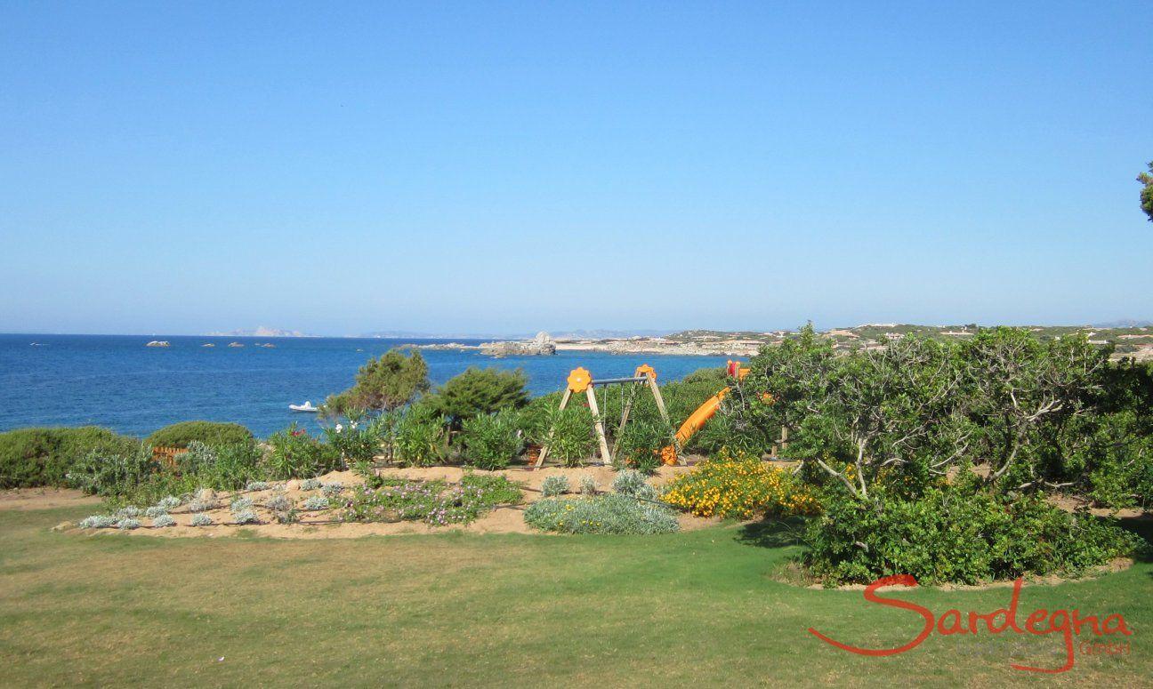 Playground for kids on the green grass of Portobello