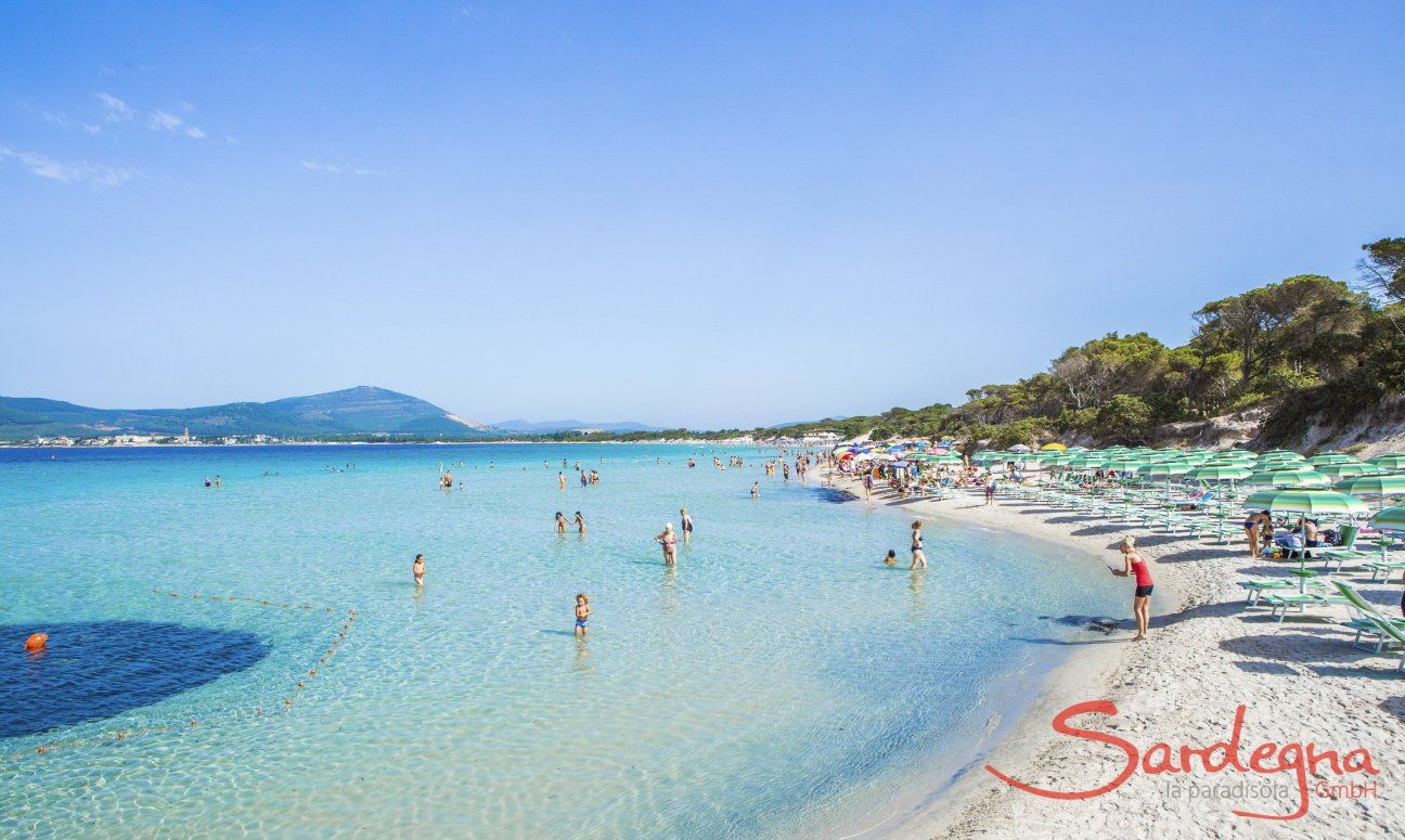 Crystal clear sea in front of the beach of Maria Pia, Alghero