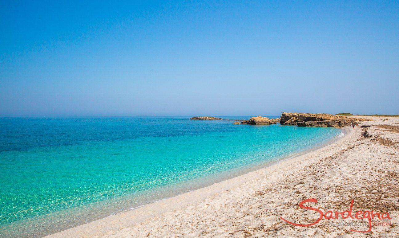 White beach of Is Arutas close to Oristano