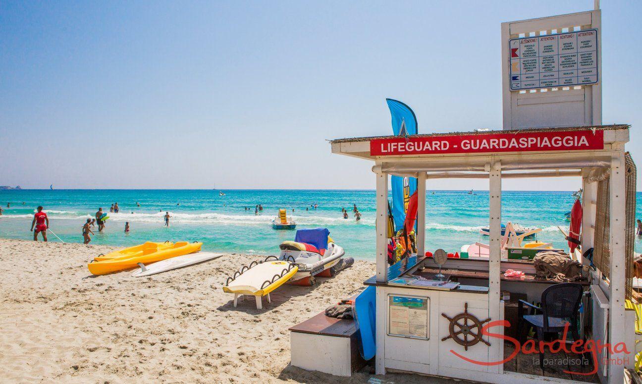 Simius Beach with lifeguards