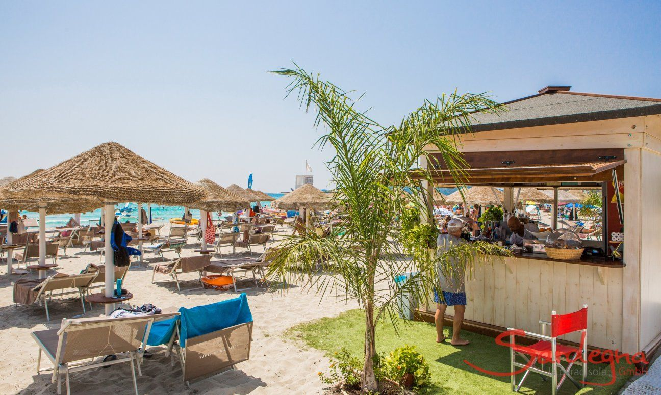 Beachbar with lounge rental on Simius Beach