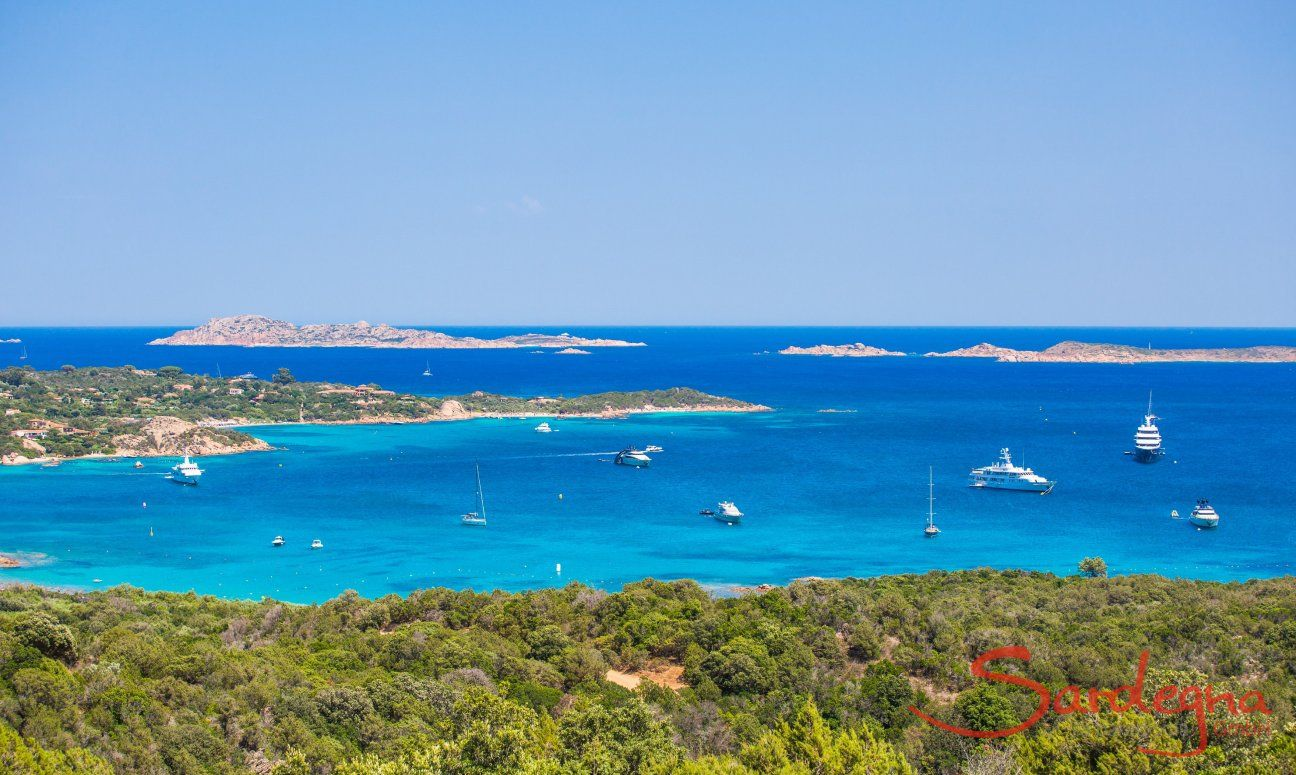 All kinds of boats populating the Costa Smeralda