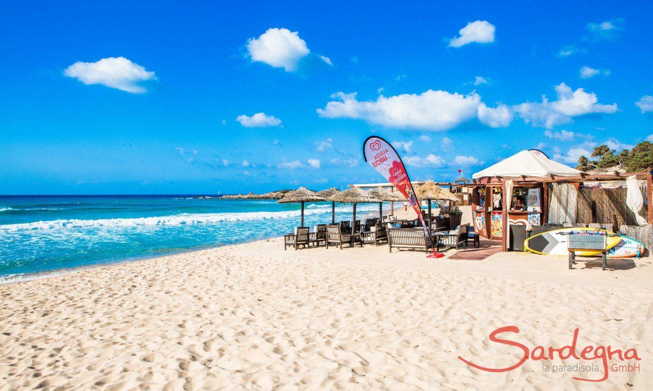 Bar on the beach Le Dune di Campana at Chia
