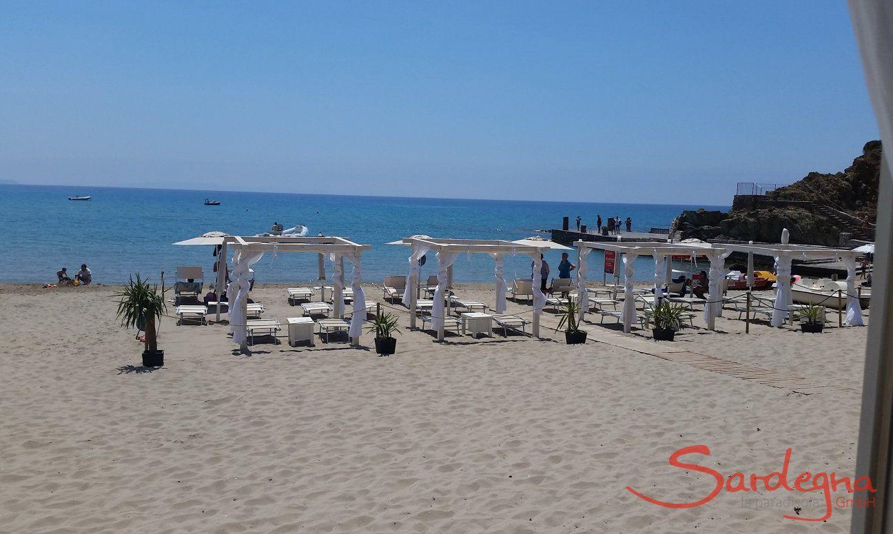 Beach Masua on the west coast of Sardinia