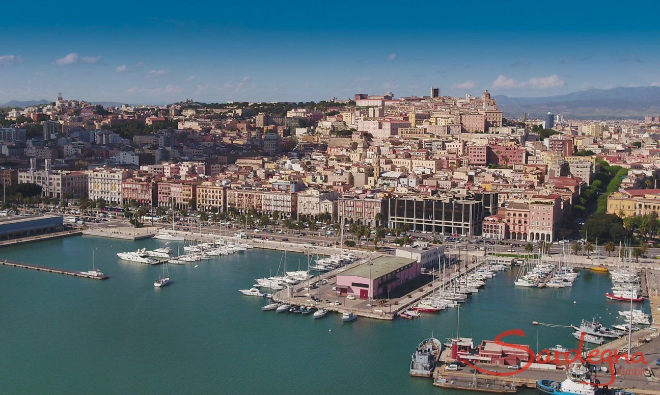 Cagliari old town and harbour