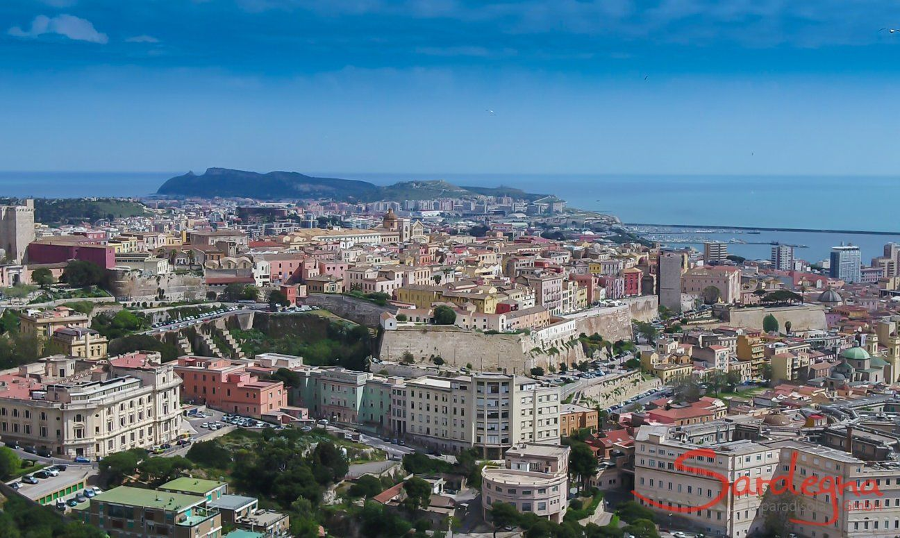 Cagliari airview of the old town