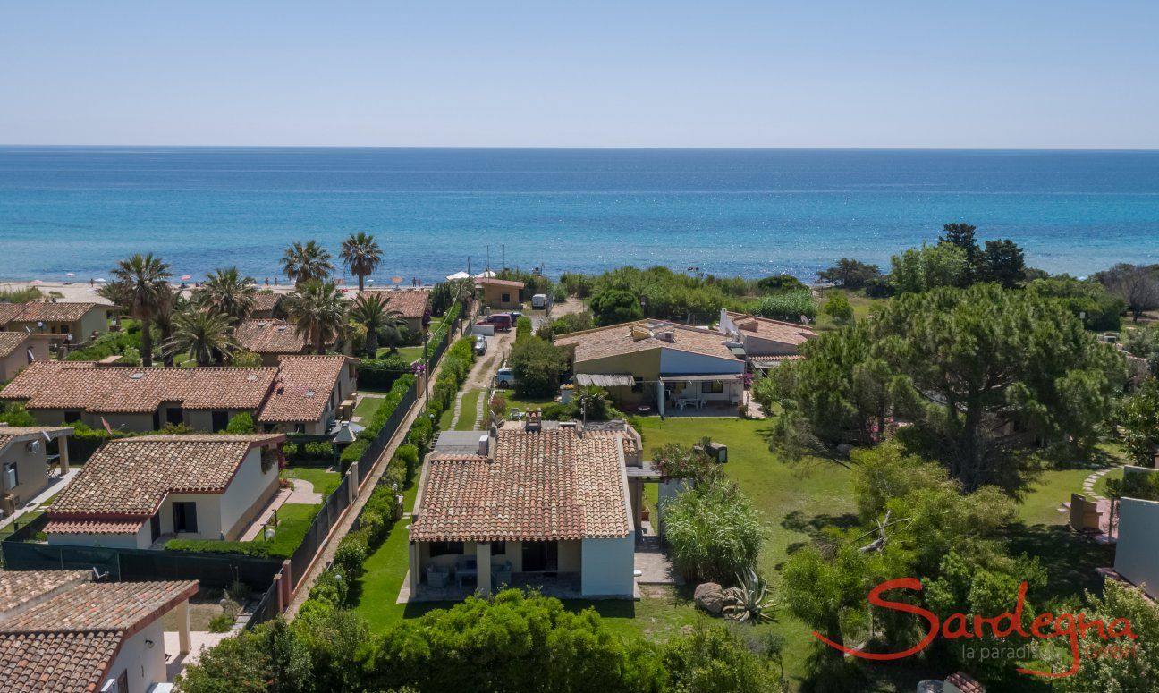 Air view, Villa Serena, Costa Rei