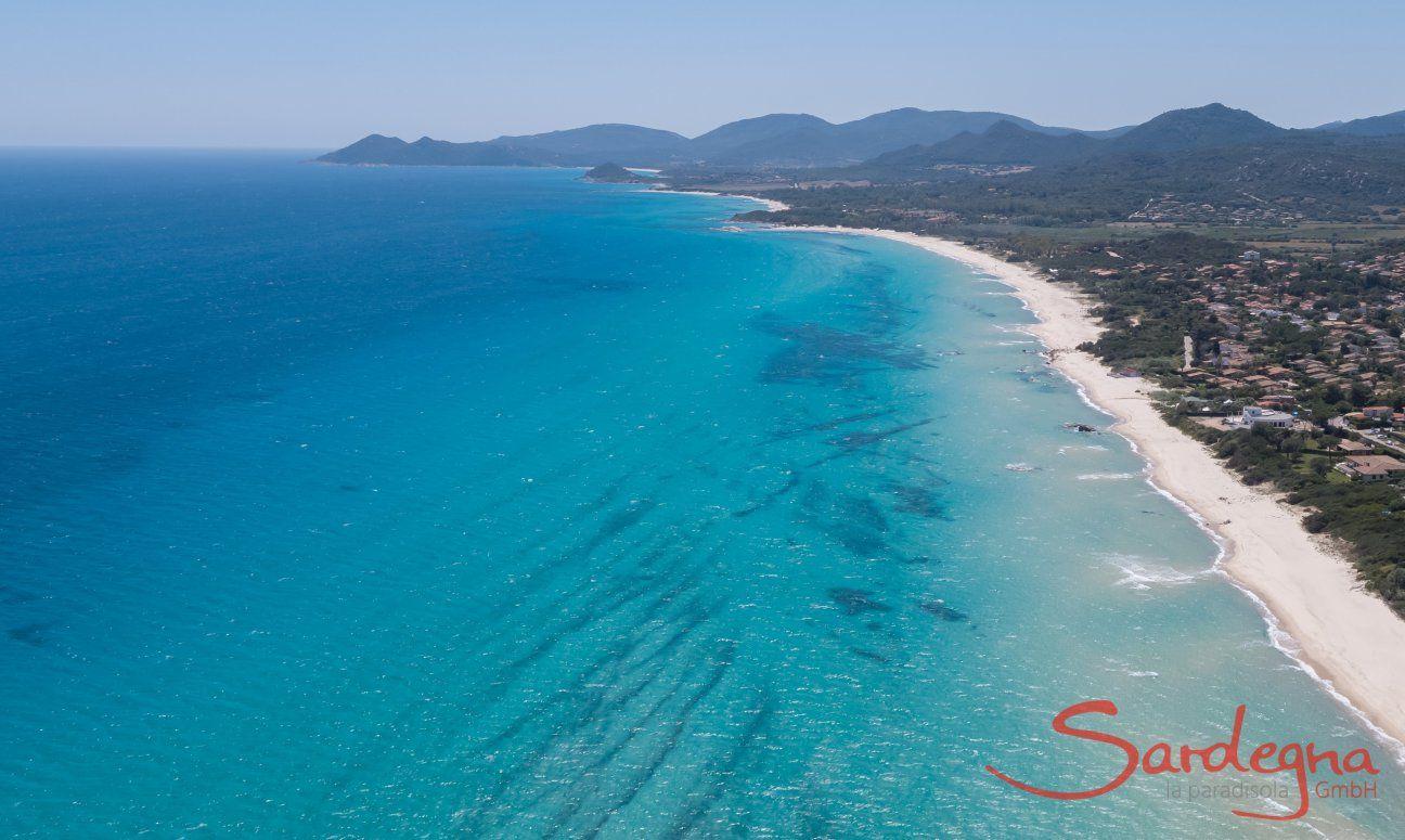 Sandy beach and blue sea